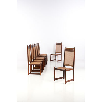 Bernardo Figueiredo, 'Set of eight chairs', 1960