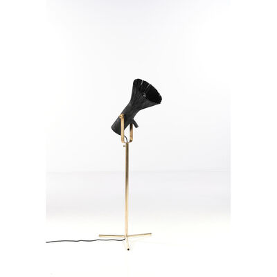 Johannes Hemann, 'Pressed wood, floor lamp', 2019