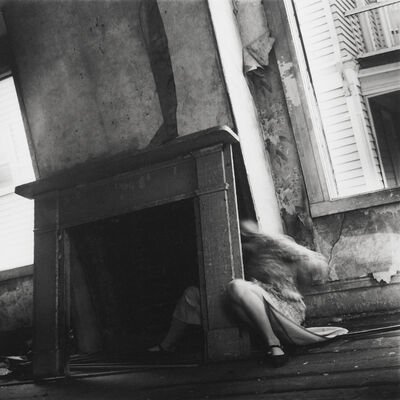 Francesca Woodman, 'Self-portrait with Fireplace Mantle', ca. 1974