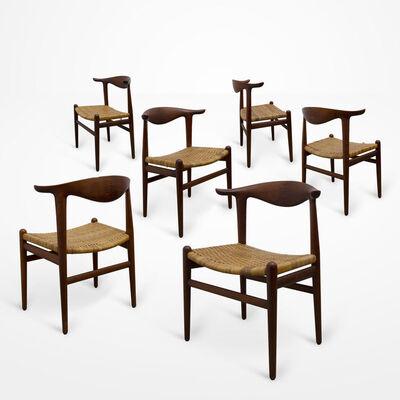 Hans Jørgensen Wegner, 'Cowhorn chairs (set of six)'