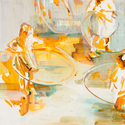 Katharine Le Hardy, 'Circles everywhere, yellow', 2021