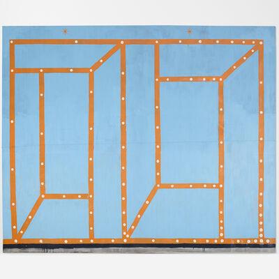 Chris Martin, 'Double Orange Coney Island Vodou Painting', 1999-2000