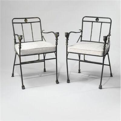Diego Giacometti, 'Fauteuils et têtes de lionnes, seconde version, pieds antérieurs en griffes de lions (2 chairs)', ca. 1979