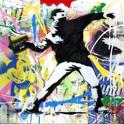 Mr. Brainwash, 'Banksy Thrower (17) ', 2015