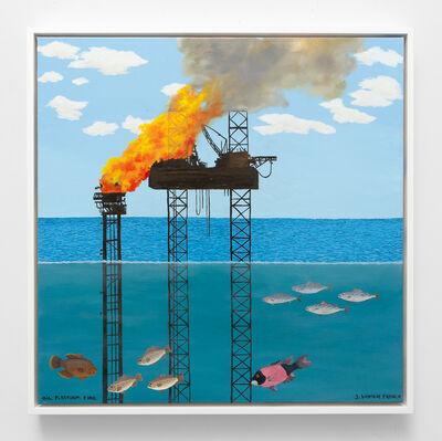 Jessie Homer French, 'Oil Platform Fire', 2019