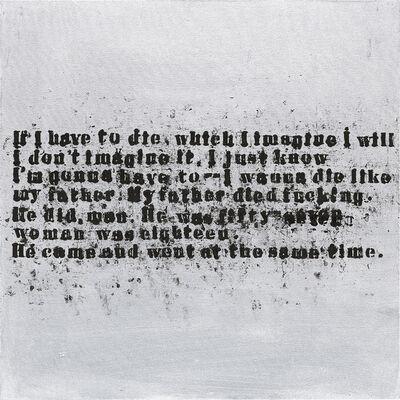 Glenn Ligon, 'Silver Came and Went #1', 2006