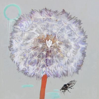 Hung Liu, 'Dandelion with Cicada-Silver', 2019