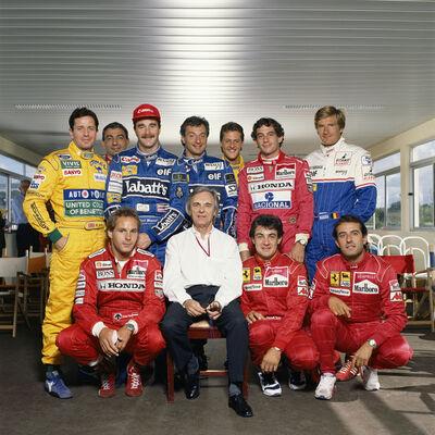 Terry O'Neill, 'Bernie Ecclestone with Formula 1 Drivers', 1990s