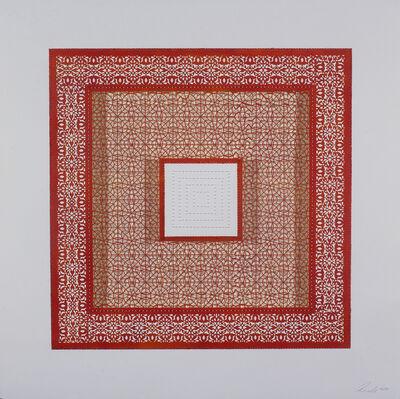 Anila Quayyum Agha, 'Flowers (Three Red Squares and One White)', 2017