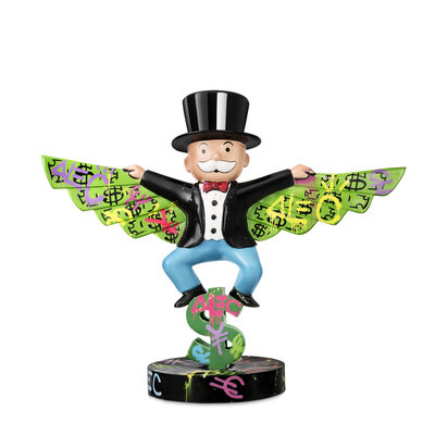 Alec Monopoly, 'Monopoly Money Wings (Man Flying)', 2019