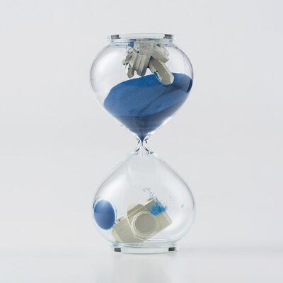 Daniel Arsham, 'Hourglass (Blue)', 2018