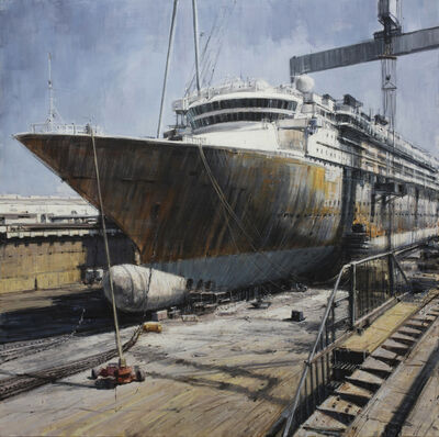 Valerio D'Ospina, 'Cruise Ship in Dry Dock', 2018