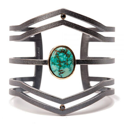 Maria Samora, 'Morenci Turquoise Diamond Strata Cuff', 2018