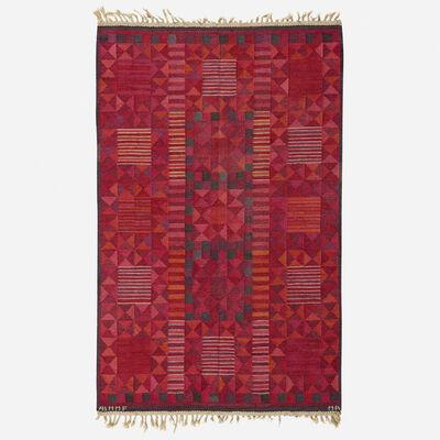 Marta Maas-Fjetterstrom AB, 'Rubirosa flatweave carpet', 1958