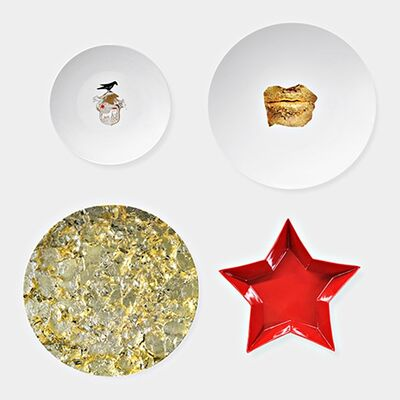 Marina Abramović, 'Limited Edition Set of Four Mismatched Porcelain Dinner Plates. New in Box', 2014