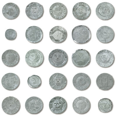 Pablo Picasso, 'A complete set of twenty-four limited edition silver platters & a twenty-fifth platter from the personal collection of the artist', Post-War