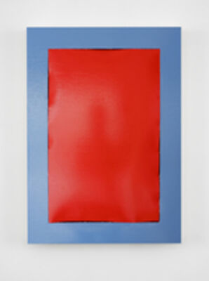 Angela de la Cruz, 'Peel (Red -Blue)', 2018
