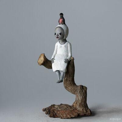 Nathalie Gauglin, 'N° 390 Petit oiseau perché', 2021