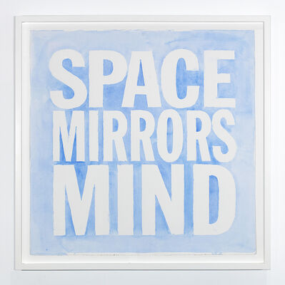John Giorno, 'SPACE MIRRORS MIND', 2019