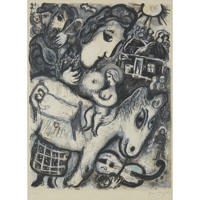 Marc Chagall, 'Grey Village', 1964