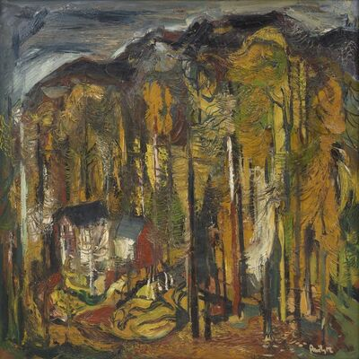 Avinash Chandra, 'Untitled (Houses in the forest)', c. early 1950s