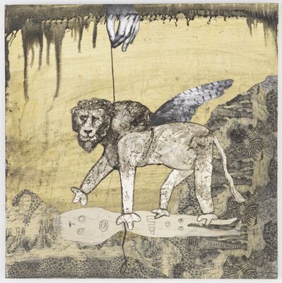 Hans Lemmen, 'Lion on a leash', 2016