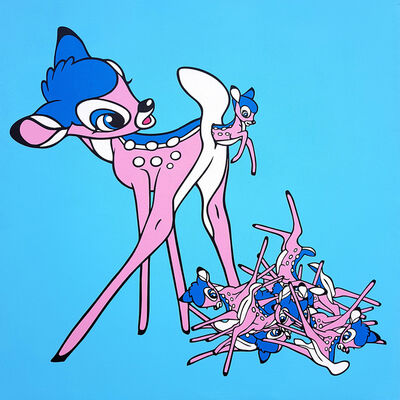 Ben Frost, 'Self Regenerating Bambi (Pink and blue)', 2019