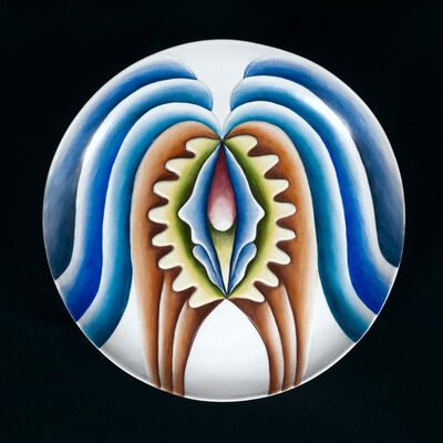 Judy Chicago, 'Hatshepsut Test Plate #3 from The Dinner Party', 1973-1974