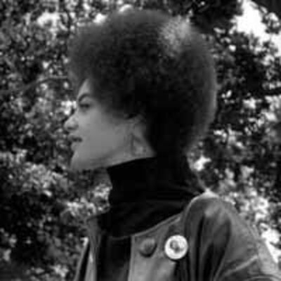 Pirkle Jones, 'Kathleen Cleaver, Communications Secretary of the Black Panther Party and wife of Eldridge Cleaver, De Fremery Park, Oakland, CA', 1968