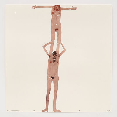 David Austen, 'Woman standing on man's shoulders 17.10.14', 2014