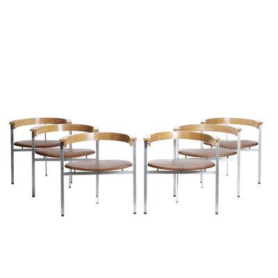 Poul Kjærholm, 'Set of 6 PK 11 armchairs', 1957