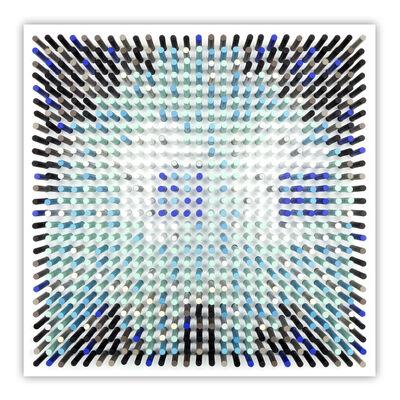 Matthew Bilfield, 'Glitchy Ghost Blue', 2020