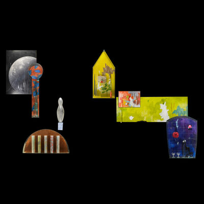 "Therman Statom, 'Massive eight-piece wall installation, ""Light / Icelandic Travels,"" Omaha, NE', 2000"