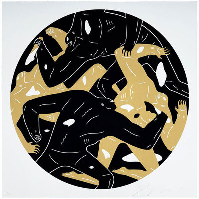 Cleon Peterson, 'Out Of The Darkness (Black)', 2018