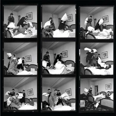 Harry Benson, 'The Beatles Pillow Fight (Contact Sheet), Paris', 1964