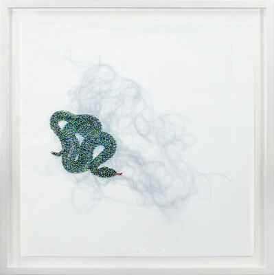 Rob Wynne, 'Green Snake', 2018