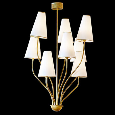 Style of Jean Royère, 'Nine-arm chandelier', 1950s