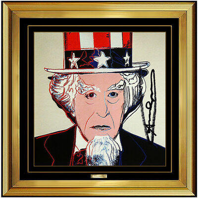 Andy Warhol, 'Andy Warhol Uncle Sam Color Lithograph Original Hand Signed Myths Screenprint', 1981