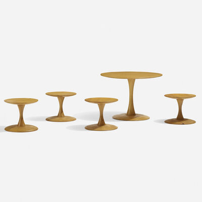 Poul Kold Mobler, 'Toadstool table and four stools', 1961