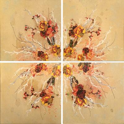 Samantha Walrod, 'Cream & Peach Radial (4 Panels)', 2018