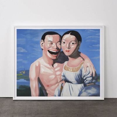 Yue Minjun, 'Ingres and I (from Snatched Ecstasy)', 2009