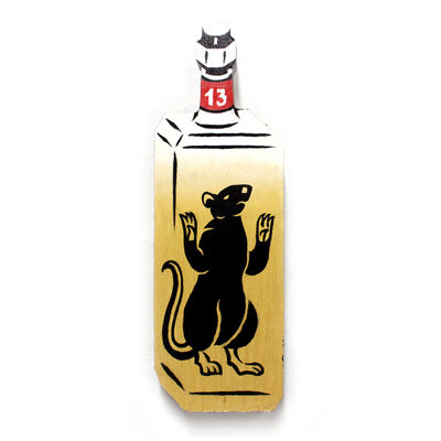 Jason Wasserman, 'Rat In A Bottle (gold)', 2018
