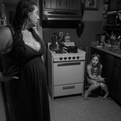 Larry Fink, 'Stacia and Denny's House ', August 2012