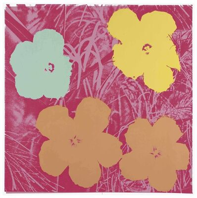 Andy Warhol, 'Flowers: one plate', 1970