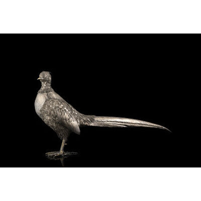 Mario Buccellati, 'Pheasant with fine silver threads and chiseled feathers', 1910-1965