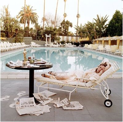 Terry O'Neill, 'Faye Dunaway at the Beverly Hills Hotel (outtake)', 1977