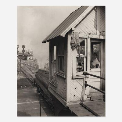 O. Winston Link, 'Crossing Guard in his Shanty, Jefferson Street , Roanoke, Virginia'