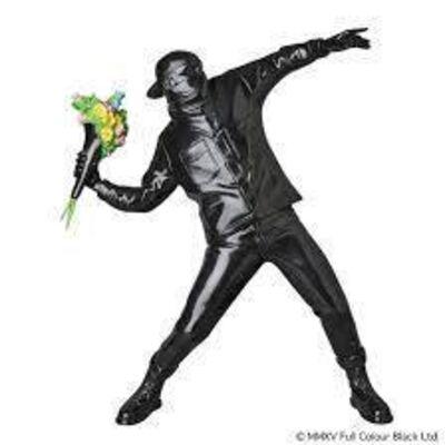 Banksy, 'FLOWER BOMBER(BLACK Ver)', 2019