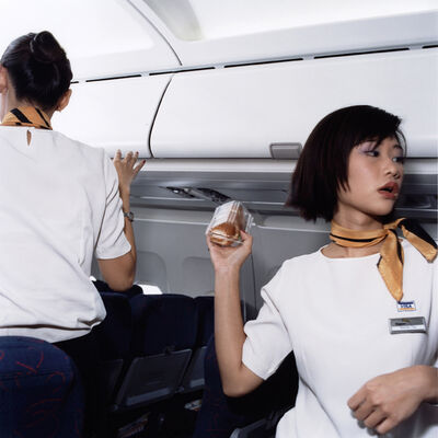 Brian Finke, 'Wenyi and Kate, Tiger Airways', 2006