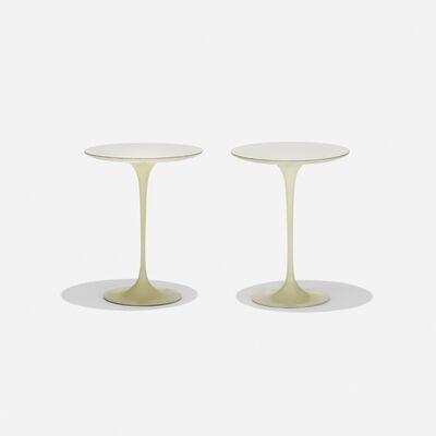 Eero Saarinen, 'Tulip occasional tables model 163M, pair', 1957